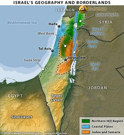 Israel Geography Map