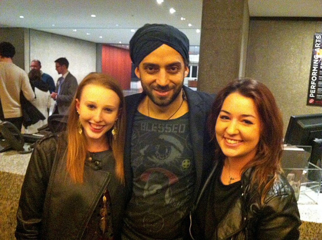 Idan Raichel with my daughter Ariella and her friend