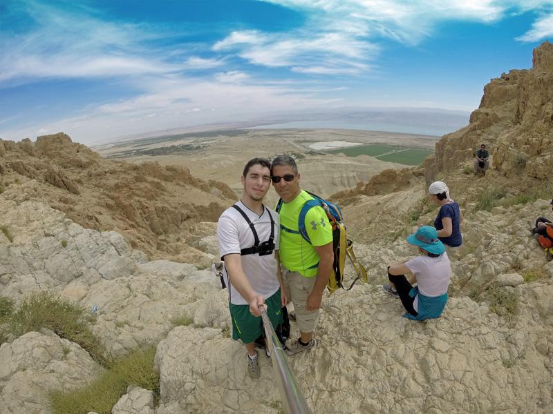 Rappelling at Qumran