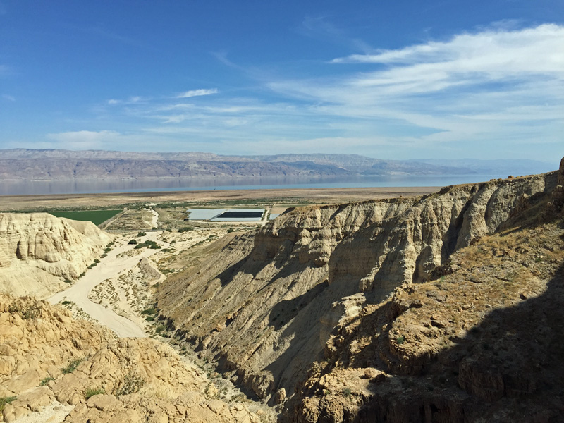 Rappelling at Qumran - The Views are Breathtaking