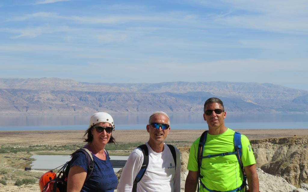 Lisa and Bruce with Avner the licensed guide
