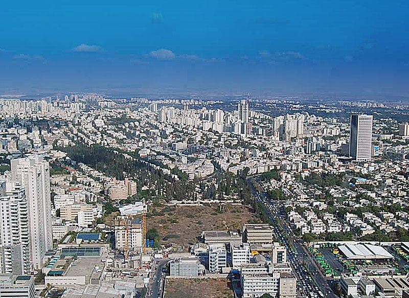 A Panoramic View of the City from the Azrielli Tower