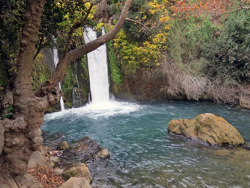 Banias Waterfall and Springs in the Upper Galilee