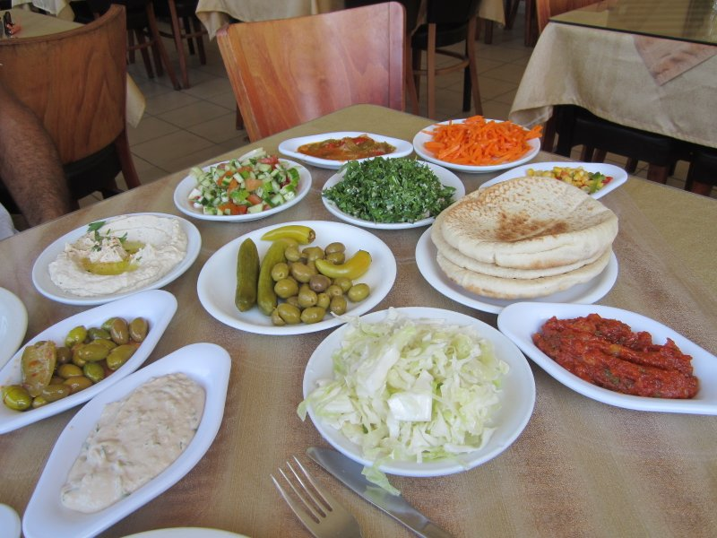 Delicious Selection of Middle Eastern Salads