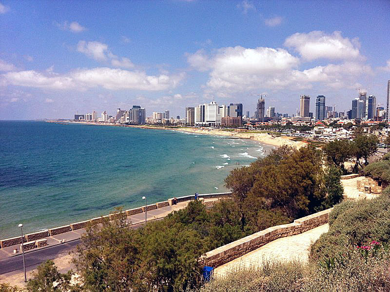 Tel Aviv Coastline View from Jaffa