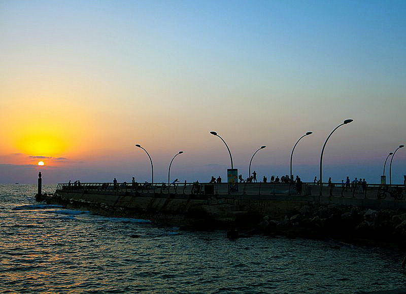 The Tel Aviv Namal at Sunset by Israeltourism on Flickr